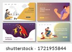 set of web pages for happy... | Shutterstock .eps vector #1721955844