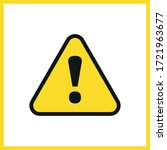 alert sign icon. exclamation... | Shutterstock .eps vector #1721963677