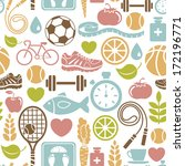 seamless pattern with healthy... | Shutterstock . vector #172196771