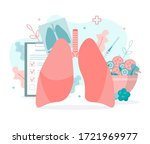 prevention of lung diseases ...   Shutterstock .eps vector #1721969977