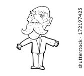 cartoon angry old man | Shutterstock . vector #172197425