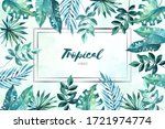 bright tropical background with ... | Shutterstock .eps vector #1721974774
