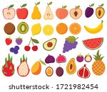 set of healthy fruits.... | Shutterstock .eps vector #1721982454