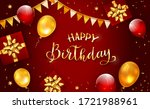 red background with gold... | Shutterstock .eps vector #1721988961