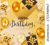 gold background with lettering... | Shutterstock .eps vector #1721988967