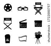cinema icon in black color...   Shutterstock .eps vector #1722000757