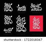 social distance calligraphy... | Shutterstock .eps vector #1722018367
