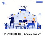 home party flat landing page...