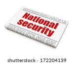 protection concept  newspaper... | Shutterstock . vector #172204139