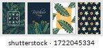 tropical brochure design layout ... | Shutterstock .eps vector #1722045334