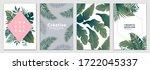 tropical brochure design layout ... | Shutterstock .eps vector #1722045337