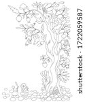 coloring page. antistress...   Shutterstock .eps vector #1722059587
