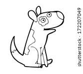 cartoon happy dog | Shutterstock . vector #172207049