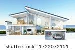 Modern Home Cross Section  3d...
