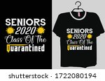 senior 2020 shirt  senior...   Shutterstock .eps vector #1722080194