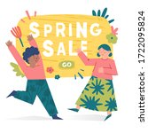 spring illustration with... | Shutterstock .eps vector #1722095824