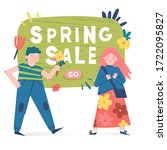 spring illustration with... | Shutterstock .eps vector #1722095827