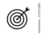 target icon vector. goal sign   Shutterstock .eps vector #1722113581