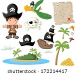 Cartoon Pirate Boy With Pirate...
