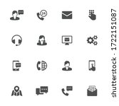 technical support flat icons in ... | Shutterstock .eps vector #1722151087