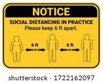 practice social distancing ...   Shutterstock .eps vector #1722162097