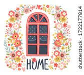 template greeting card or...   Shutterstock .eps vector #1722177814