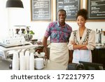 female owner of coffee shop   Shutterstock . vector #172217975
