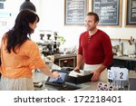 customer paying in coffee shop... | Shutterstock . vector #172218401