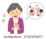 llustration of an elderly woman ... | Shutterstock .eps vector #1722191677