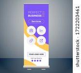 wonderful roll up banner design ... | Shutterstock .eps vector #1722203461