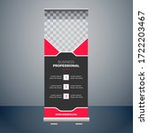professional roll up banner... | Shutterstock .eps vector #1722203467