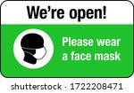 please wear a face mask sign.... | Shutterstock .eps vector #1722208471