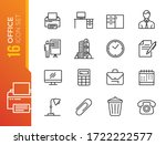 office   thin line web icon set.... | Shutterstock .eps vector #1722222577