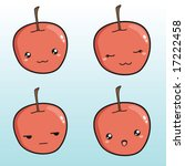 set of cute apple icons | Shutterstock .eps vector #17222458