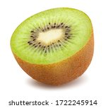 Sliced Kiwi Path Isolated On...