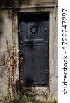 Ornate Rusty Metal Closed Door...