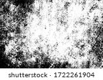 grunge black and white texture. ... | Shutterstock .eps vector #1722261904