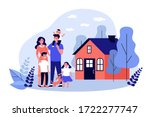 happy family couple with kids... | Shutterstock .eps vector #1722277747