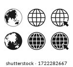 collection of globe icon symbol ... | Shutterstock .eps vector #1722282667