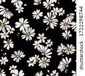 delicate daisy print   seamless ... | Shutterstock .eps vector #1722298744