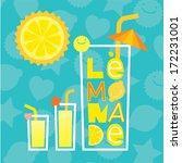 lettering lemonade with glasses ... | Shutterstock .eps vector #172231001