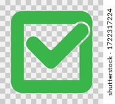 approved icon square with a... | Shutterstock .eps vector #1722317224