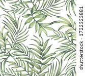 Tropical Leaves Vector Pattern. ...