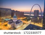 St. Louis, Missouri, USA cityscape view in the morning.