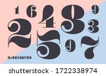 number font. font of numbers in ... | Shutterstock .eps vector #1722338974