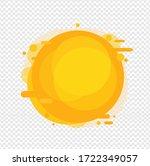 yellow speech bubble isolated...   Shutterstock . vector #1722349057