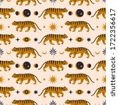 seamless pattern with chinese... | Shutterstock .eps vector #1722356617