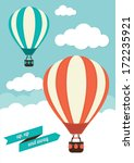 hot air balloon vector graphic | Shutterstock .eps vector #172235921