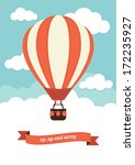 hot air balloon vector graphic | Shutterstock .eps vector #172235927