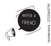 hand drawn refer a friend of... | Shutterstock .eps vector #1722363754